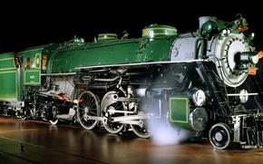 Обои фото, Железная дорога, Поезда, паровоз