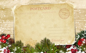Картинка праздник, елка, Рождество, открытка, Merry Christmas, postcard, greeting