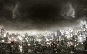 Обои Готэм, Warner Bros. Interactive Entertainment, Rocksteady Studios, Бэтмен: Рыцарь Аркхема, Batman: Arkham Knight, Batman: Arkham