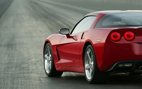 Обои дорога, Corvette, Chevrolet
