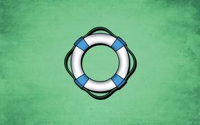 Обои море, фон, круг, синие, тона