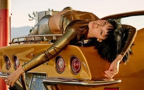 Обои Love, 2016, авто, фотосессия, Белла Хадид, Bella Hadid