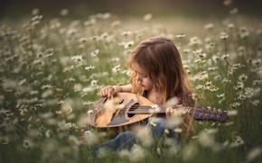 Картинка лето, музыка, девочка