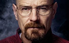 Картинка взгляд, Walter White, Bryan Lee Cranston, актёр, Брайан Ли Крэнстон, Уолтер Уайт, Heisenberg, очки, Во ...