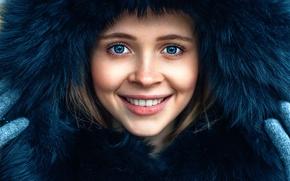 Обои Maks Kuzin, девушка, улыбка, радость