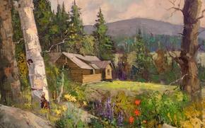 Картинка арт, Sean Wallis, Idaho Cabin Commision