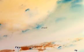 Обои рисунок, feel good, небо