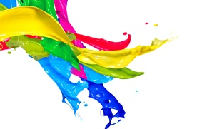 Обои капли, брызги, краска, colors, design, splash, paint