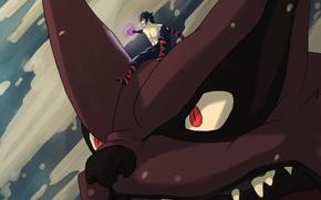 Картинка животное, зубы, аниме, демон, арт, лис, наруто, парень, девятихвостый, naruto, kyuubi, Menma