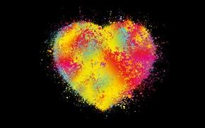 Обои abstract, colors, heart, vector, background, сердце, фон