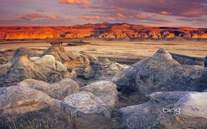 Картинка небо, закат, горы, камни, скалы
