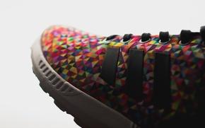 Картинка цвета, кроссовки, шнурки, adidas ZX Flux, Multi Color
