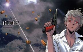 Картинка оружие, аниме, мальчик, арт, Йона, jormungand