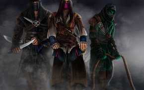 Обои Rain, Assassins, Sub-Zero, Kombat, Mortal, Reptile