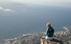 Картинка свобода, одиночество, вид, высота, панорама, уединение