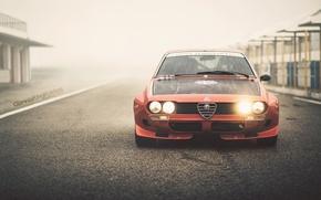 "Обои Alfa Romeo, vintage, retro, oldschool, 2000GT, 1974, By Giannis ""KING"" Kokkas, Alfetta, italian racecar"