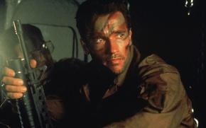 Картинка автомат, Хищник, Predator, Арнольд Шварценеггер, Arnold Schwarzenegger, Dutch