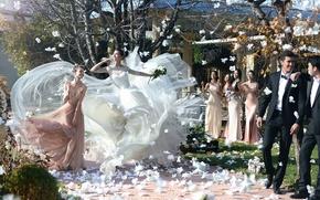 Картинка невеста, свадьба, левитация