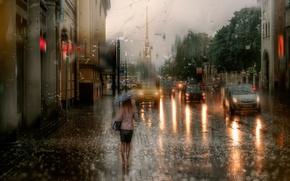 Картинка осень, дождь, Санкт-Петербург