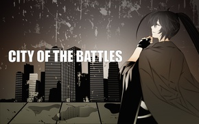 Картинка girls, anime, city of the battles