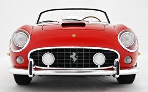 Картинка Красный, логотип, Ретро, Капот, Ferrari, 250, Моделька