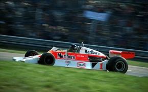 Картинка скорость, легенда, Formula 1, 1977, James Hunt, McLaren M26, чемпион мира, Monza, Italian Grand Prix, …