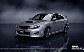 Картинка Subaru, Impreza, Дым, Машина, Гонка, Гоночная, Gran, Turismo 5