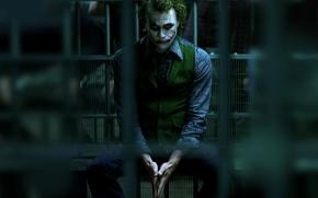 Картинка Джокер, joker, бетмен, batman, темный рыцарь, dark knight, тюрьма