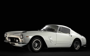 Картинка Белый, Ретро, Феррари, Ferrari, Автомобиль, 1962, Berlinetta, 250, SWB