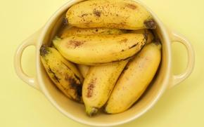 Картинка бананы, чашка, Yellow cubed