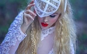 Картинка девушка, фантазия, арт, Ryo, Red lips, Agnieszka Lorek