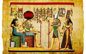 Картинка фараон, иероглиф, египет, папирус