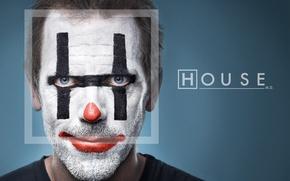 Обои хью лори, House, доктор хаус, клоун