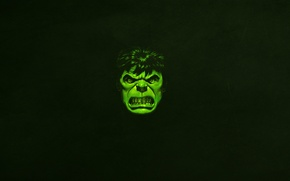 Картинка морда, зеленый, минимализм, злой, халк, marvel, комикс, hulk