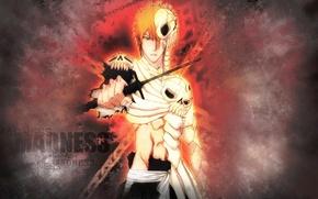 Картинка Аниме, Bleach, Ichigo Kurosaki, сила воля ада, Фильм 4, Movie 4