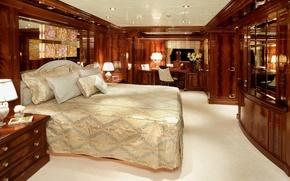 Картинка стиль, каюта, интерьер, яхта, люкс, дизайн