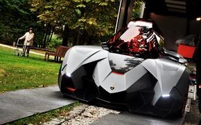 Картинка Concept, чёрный, Lamborghini, Egoista, 2013 Lamborghini Egoista Concept