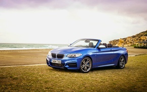 Картинка бмв, BMW, кабриолет, Cabrio, UK-spec, 2015, M235i, F23