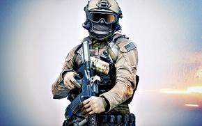 Обои оружие, Battlefield 4, солдат, фон