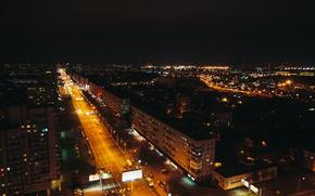 Картинка ночь, город, санкт-петербург