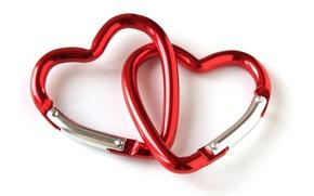 Картинка сердце, красные, два, heart