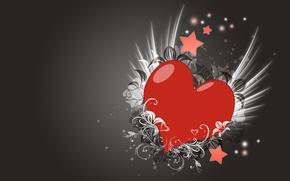 Картинка любовь, узор, сердце, Серый