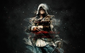 Картинка Оружие, Assassin's Creed, Сабля, Black Flag, Эдвард Кенуэй, Edward Kenway, Assassin's Creed IV Black Flag, …