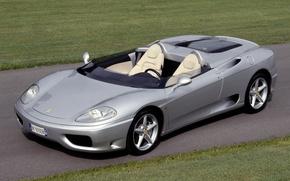 Картинка феррари, серебристая, 360, барчетта, Barchetta, Ferrari 360