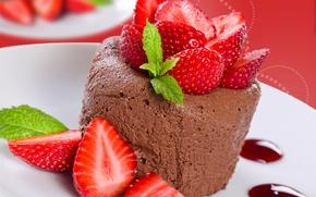 Обои food, десерт, dessert, сладкое, ягоды, strawberries, berries, sweet, еда, клубника