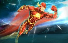 Картинка костюм, супергерой, DC Comics, Flash, Флэш, Barry Allen