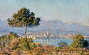 Обои пейзаж, картина, Клод Моне, Вид Антиба с Плато Нотр-Дам