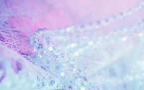 Картинка сияние, фон, праздник, блеск, новый год, блестки, бусы, текстуры, бусины, боке, обои от lolita777