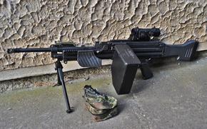 Обои heckler & koch, mg4, ручной, пулемёт