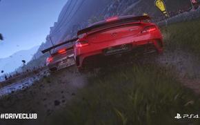 Картинка дождь, гонка, игра, гонки, mercedes, rain, race, amg, 2014, ruf, PS4, 2015, Driveclub, Evolution Studios, …
